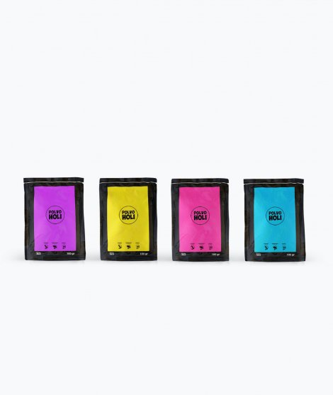 Pack de polvos Holi - 4 bolsas de 100 gramos