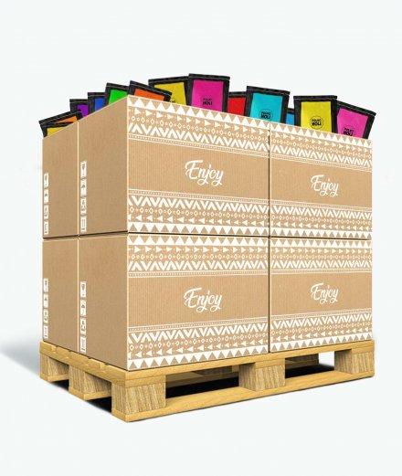 Pack de polvos Holi - 1000 bolsas de 100 gramos