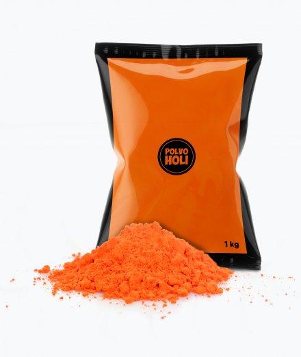 Bolsa de polvos Holi de 1 kg color naranja