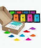 Pack de polvos Holi - 8 bolsas de 100 gramos - polvos de colores