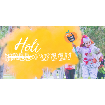 Halloween con Polvo Holi