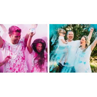 La fiesta Baby Shower más original con Polvo Holi