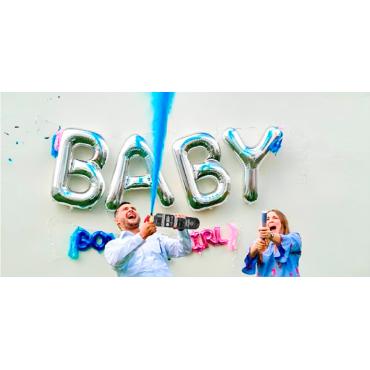 Extintores de Polvo Holi para Baby Shower